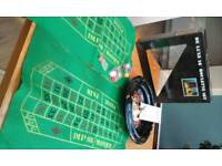 Roulette Wheel, cloths and chips