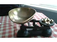 traditional antique weighing scales