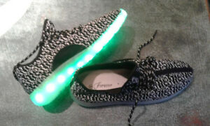 "Boys ""lighted"" shoes, never worn."