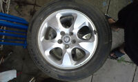 225 55 16 pnues +  rim jaguar / 3 tires + jaguar rims
