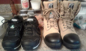 LIKE NEW STEEL TOE WORK BOOTS AND RUNNERS