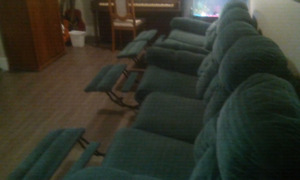 Reclining couch and love seat set