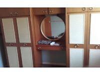 Double wardrobe with top unit an dressing table