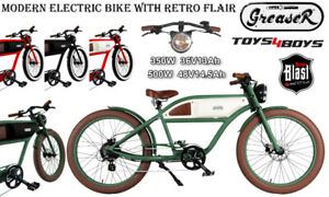 *T4B  GREASER Cafe Racer Style: Electric Bike Bicycle 350W 500W