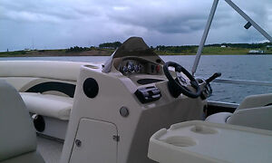 2012  Pontoon Boat, Motor and Trailer
