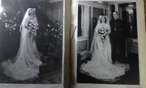 1941 Rare Wedding B/W Photo Album,R.H.Marlow,Ingeborg Raymer Est