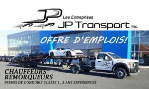 CAMIONNEURS REMORQUEURS POUR TRANSPORTS AUTOMOBILES RECHERCHÉS