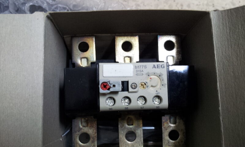 AEG B177S THERMAL OVERLOAD RELAY 150-180A 910-341-796 STAND ALONE DIN MOUN
