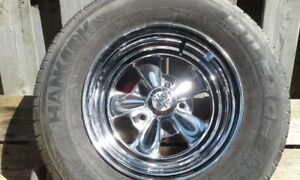 CRAGER 14 INCH NEW RIMS (2) with tires