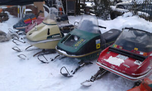 Rare Vintage Collectable Snowmobiles for sale.