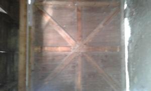 Antique barn door with hanger circa 1926