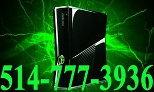 Xbox 360 Slim +2 Manettes + 14 Jeux Console Microsoft Video Game