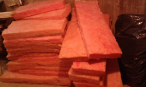 Pink Insulation, R14, used, smoke-free home, never wet.