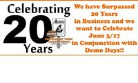 Harley Demo Day and our 20 Year Celebration