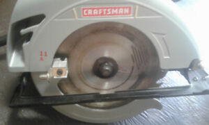 Circular Saw 7 1/4 inch 11 am with case and carbide blade. Used