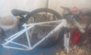 GT TIMBERLINE FRAME WITH SHOCKS N FRONT RIM/TIRE