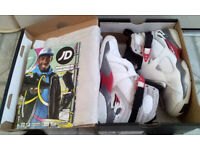 AIR JORDAN 8 VIII 2013 - SIZE 3 - WHITE & GREY - USED IN EXCELLENT CONDITION