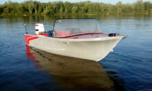 70 HP, 16 footer, No leaks, Fast, Nice ride on the water!