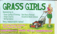 Awesome Fall clean-up!  Grass cut and trimmed starting at $30!