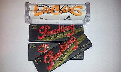 Máquina de liar tabaco metacrilato + 3 librillos 50 hojas Smoking Deluxe...