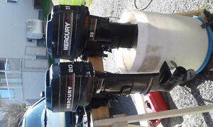 2 Outboard motors for sale: 20 and 25 hp - $500