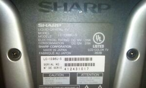 Sharp TV and  RCA DVD player