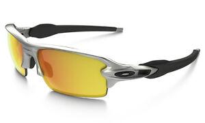 98f96af5f2 Oakley Sunglasses  Flak Jacket 2.0 Silver Fire Iridium 009295-02
