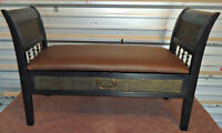 Elegant 2-Seater Bench with Storage, refurbished (delivery)