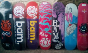 BAM MARGERA ELEMENT SKATEBOARDS LOT!