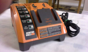 RIDGID LITHIUM ION RAPID MAX 9.6V- 12V 14.4V 18V BATTERY CHARGER