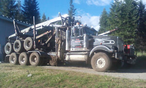 1993 Western Star logging truck with self loader