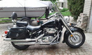Black and chrome Suzuki Boulevard VL800
