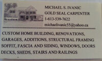 Gold Seal Licensed Carpenter over 35 years experience