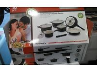 New in Box Ceramic Coating Cookware Set/ 10 pcs