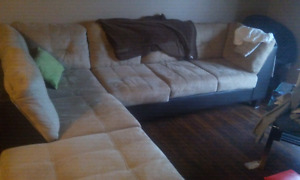 Sectional couch & entertainment center