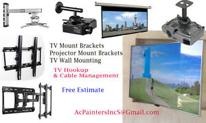 TV Mount Brackets - Projector & Screen Mouting Services