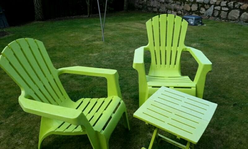 Dobbies Weather Resistant Lime Green Set Of Two Patio Chairs