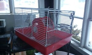 hamster cage and bird cage