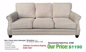 Premium Fabric Provincial Style Sofas FURNITURE OUTLET Epping Whittlesea Area Preview