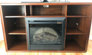 Entertainment Stand with electric fire place