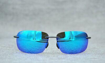 Maui Jim 407-11 Ho'okipa Smoke Grey Frame- Blue Hawaii Polarized Lenses (Hookipa Maui)