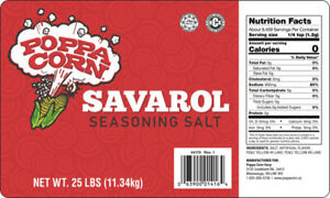 SAL025 - BUTTER FLAVOURED SALT (SAVAROL) - 25LB BAG-IN-BOX