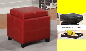 STORAGE OTTOMAN FLIPS INTO SERVING TREE $139.99 ONLY.