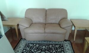 All Leather Loveseat