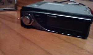 Panasonic car cd deckSat radio ready.