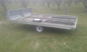 ** 8.5x12 Aluminum Double Snowmobile trailer pd $4000 askn $2200
