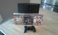 PlayStation 3 320GB avec 3 jeux