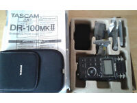 Tascam DR-100 MKII Portable Audio Recorder £200