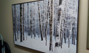 Winter scene with frame