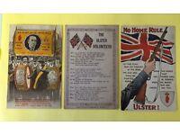 Rare Anti Home Rule postcards
